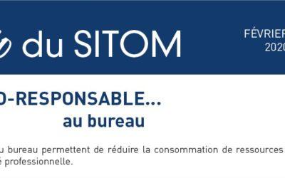 """L'info du SITOM """"être éco-responsable au bureau"""""""
